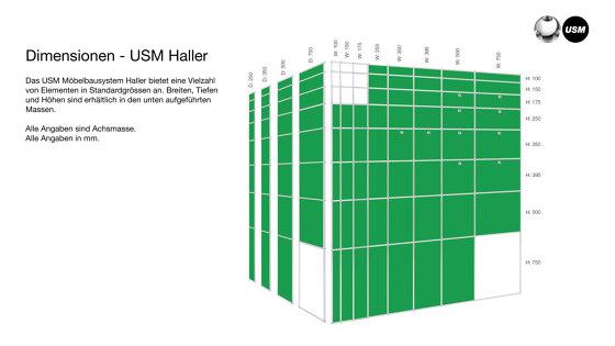 USM Haller Showcase   Transparent Glass by USM   Display cabinets