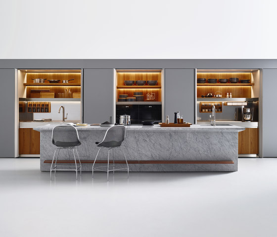 Lignum et Lapis, New Pocket System by Arclinea | Fitted kitchens
