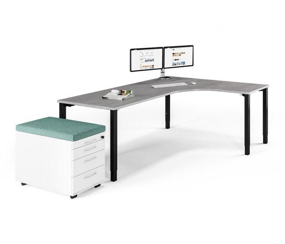 Rondana table system by Assmann Büromöbel | Contract tables