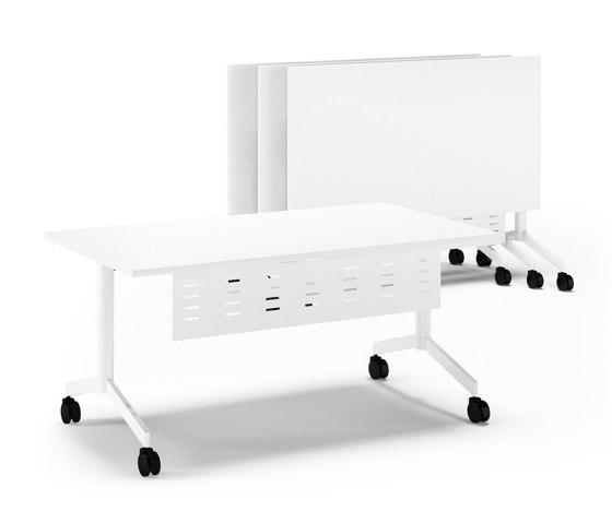 Pontis folding desks by Assmann Büromöbel | Contract tables