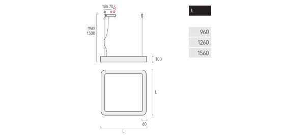 Caleo Inverse G3/P3 de Lightnet | Suspensions
