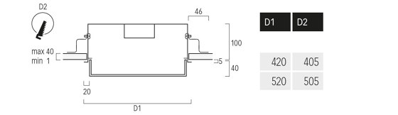 Basic Ambient M6 di Lightnet | Lampade soffitto incasso