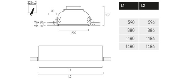 Cubic M1 de Lightnet | Plafonniers encastrés