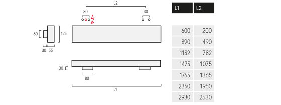 Matric-W4 di Lightnet | Lampade parete