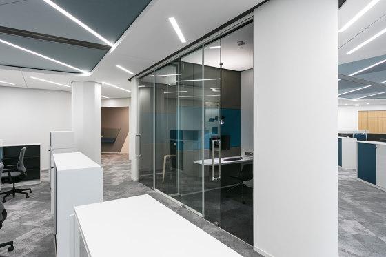 fecotür glass sliding door ST10B by Feco   Internal doors