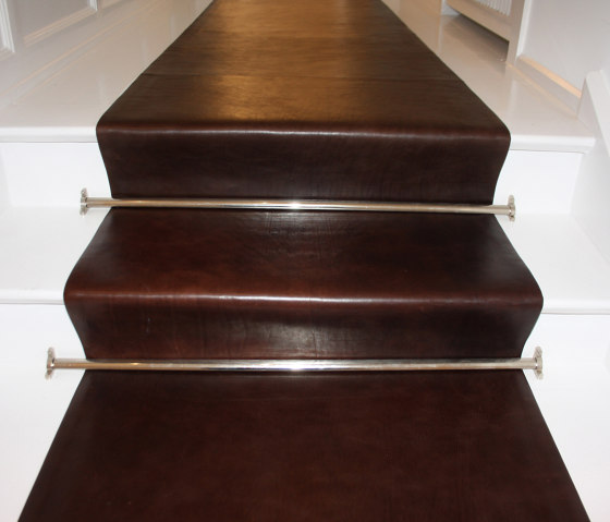 Stairrunner leather by KURTH Manufaktur | Leather flooring