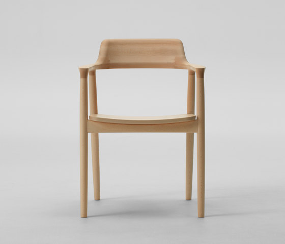 Hiroshima Arm chair High (Wooden seat) by MARUNI | Chairs