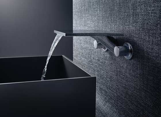 AXOR Massaud 3-Hole Basin Mixer for concealed installation wall mounting with spout 262 mm DN15 by AXOR | Wash basin taps