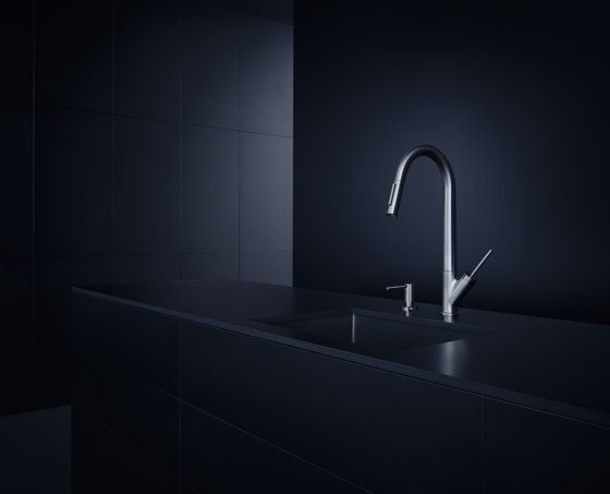 AXOR Starck Single Lever Kitchen Mixer with pull-out spray DN15 by AXOR | Kitchen taps