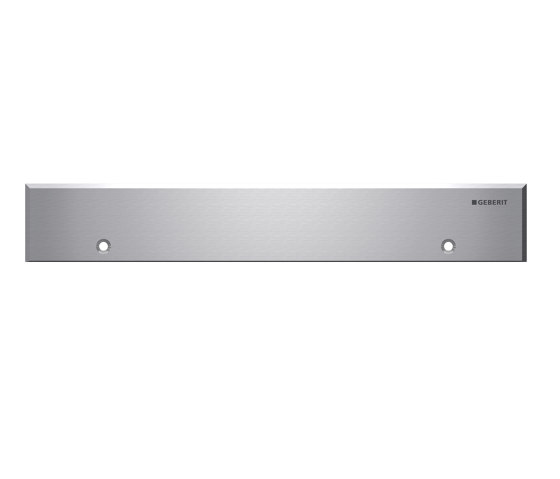 Floor-even shower solutions   wall drain stainless steel, screwable by Geberit   Linear drains