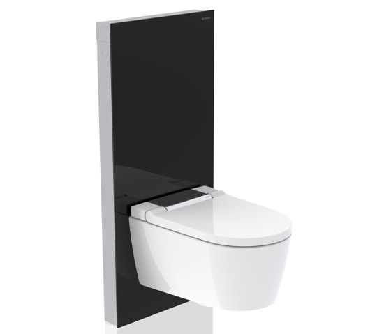 Monolith | sanitary module black / glass by Geberit | Flushes