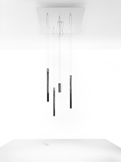 Flying Flames by Ingo Maurer | Suspended lights