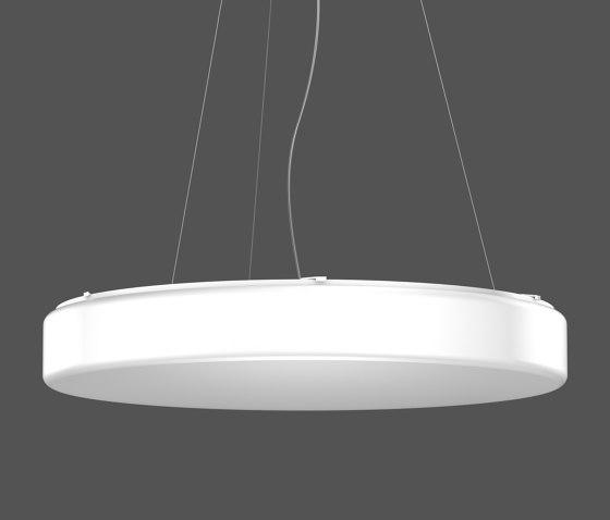 Flat Polymero® Kreis and Kreis XXL Pendant luminaires by RZB - Leuchten | Suspended lights