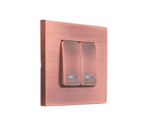 SoHo | Double Push-Button Switch by FEDE | Two-way switches