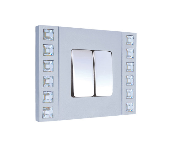 Sand-Velvet-Décor | Double Push-Button Switch by FEDE | Two-way switches