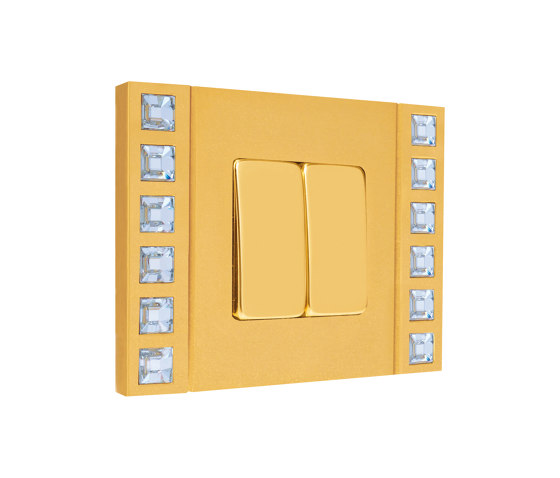 Sand-Velvet-Décor   Double Push-Button Switch by FEDE   Two-way switches