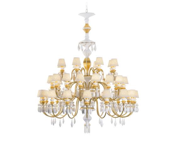 Belle de Nuit 40 Lights Chandelier | Golden Luster (CE/UK) de Lladró | Chandeliers