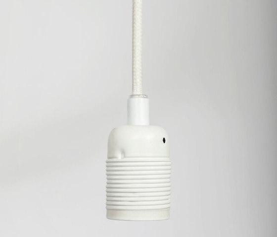 E27 pendant Matt White / White Cable by Frama | Suspended lights