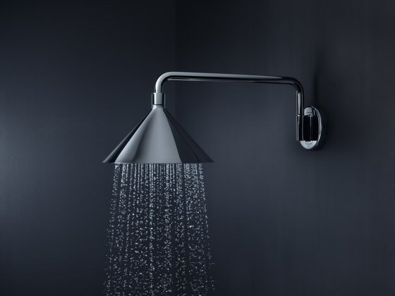 AXOR 240 2jet overhead shower with shower arm by AXOR | Shower controls