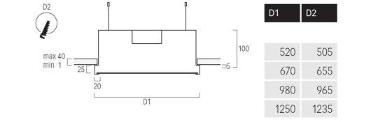 Basic M7 de Lightnet | Plafonniers encastrés