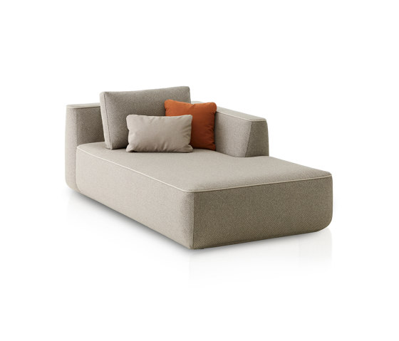 Plump Right chaise longue module by Expormim | Sofas