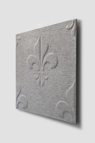 Whisperwool Fleur de Lis by Tante Lotte | Sound absorbing wall systems