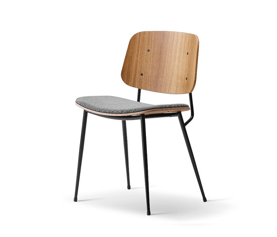 Søborg Steel Base - seat upholstered de Fredericia Furniture | Sillas
