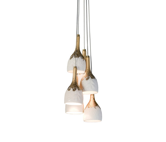 Naturofantastic 6 Lights Ceiling Lamp (CE/UK) by Lladró | Suspended lights