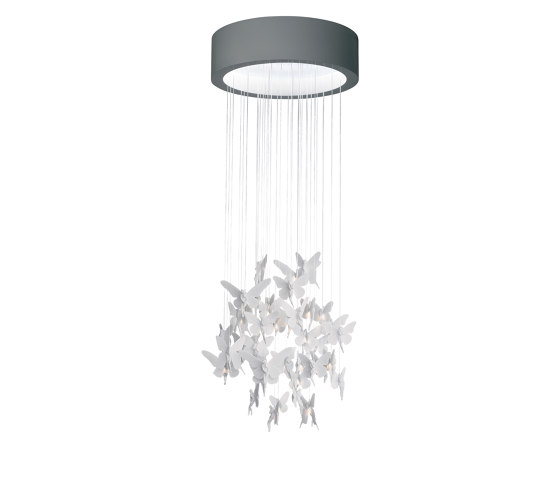 Re-cyclos Niagara Chandelier 0.60m (CE/UK)   White by Lladró   Suspended lights