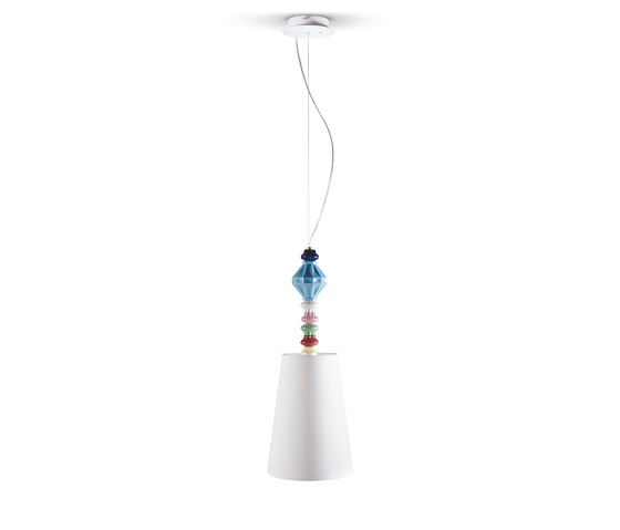 Belle de Nuit Ceiling Lamp I   Multicolor (CE/UK) by Lladró   Suspended lights