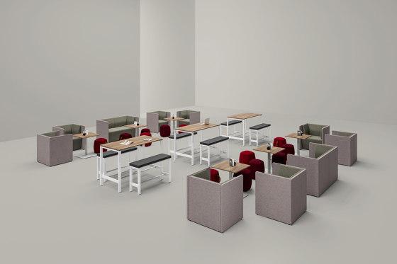 Solos High-Desk von Assmann Büromöbel | Stehtische