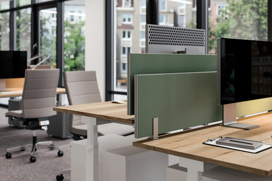 Viteco Partitioning system AS30 by Assmann Büromöbel | Table dividers