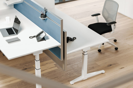Viteco Partitioning system AS44 by Assmann Büromöbel | Table dividers