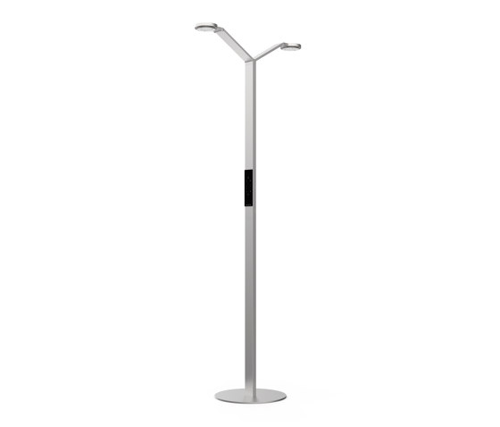FLOOR TWIN RADIAL aluminium by LUCTRA | Free-standing lights