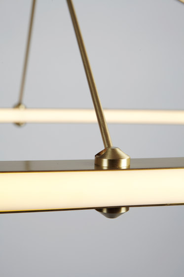 Halo Oval Pendant (Brushed brass) de Roll & Hill | Suspensions
