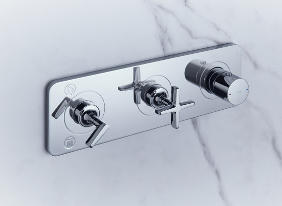 AXOR Citterio E Thermostatic module for concealed installation 38 x 12 for 2 outlets by AXOR | Shower controls