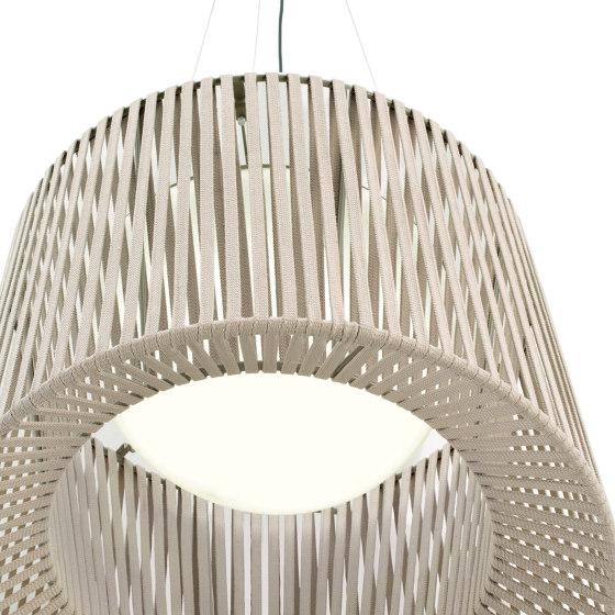 """""""Oh"""" lamp Lampe suspension tissée de Expormim   Suspensions d'extérieur"""