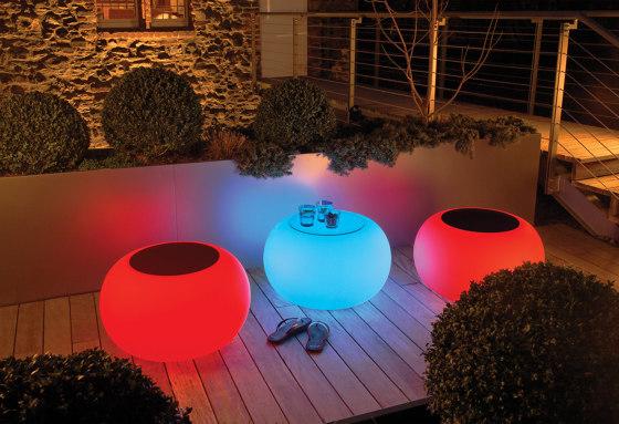 Bubble Outdoor LED de Moree   Mesas auxiliares