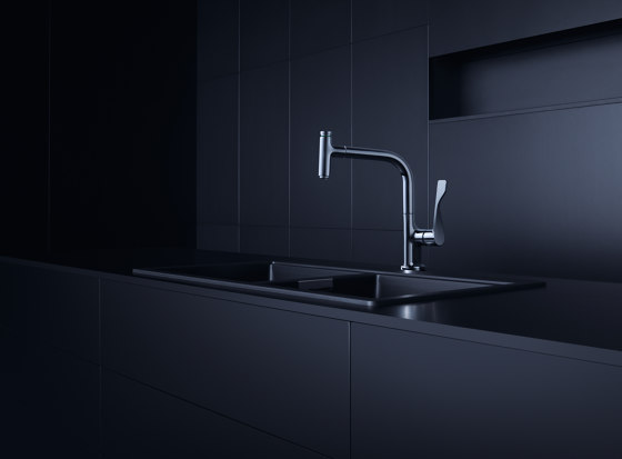 AXOR Citterio Single lever kitchen mixer with pull-out spray by AXOR   Kitchen taps