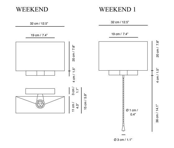 Weekend | Wall lamp by Carpyen | Wall lights