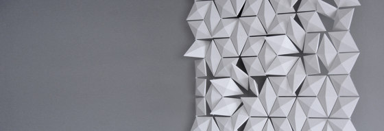 Facet Hanging Room Divider - 102x230cm by Bloomming | Sound absorbing room divider