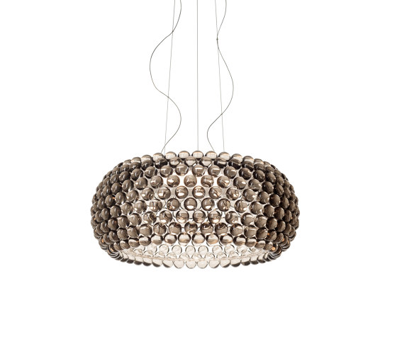 Caboche Plus Pendelleuchte gross LED grau von Foscarini   Pendelleuchten
