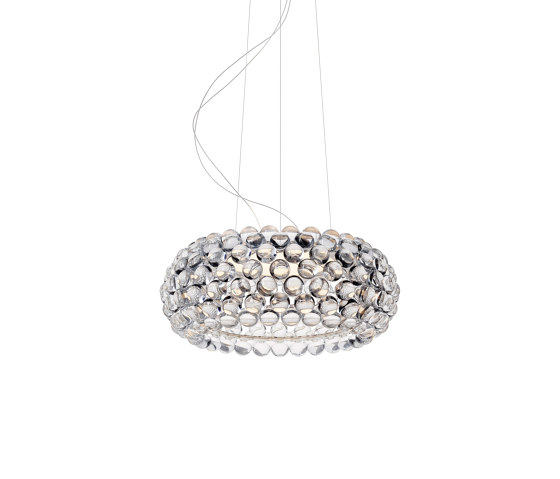 Caboche Plus Pendelleuchte mittel LED transparent von Foscarini   Pendelleuchten