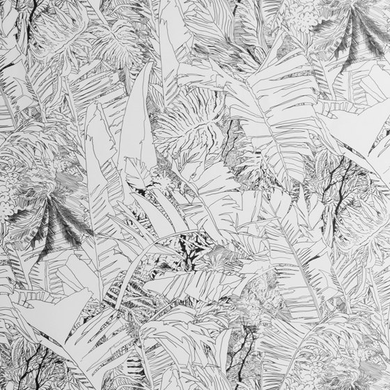 Jungle   Black wallpaper by Petite Friture   Wall coverings / wallpapers