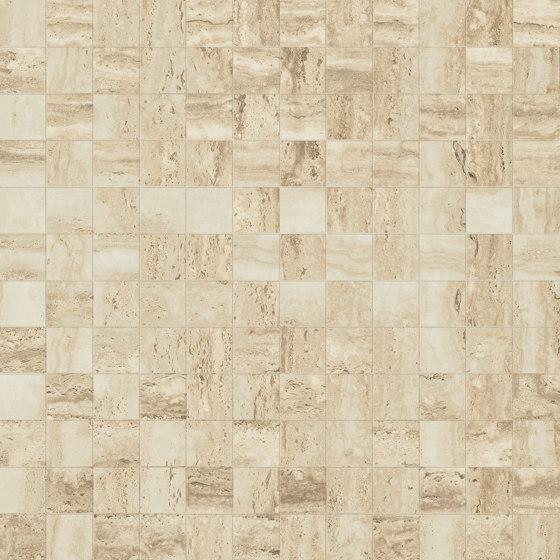 Prestigio Travertino Lucido Mosaico by Refin | Ceramic tiles