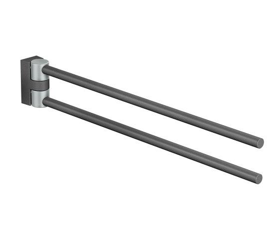 FSB ErgoSystem® A100 Double swivel-action hand towel rail, pivotable by FSB | Grab rails