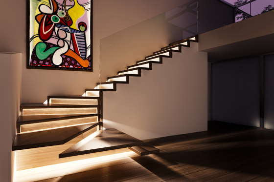 ZigZag LED by Siller Treppen | Staircase systems