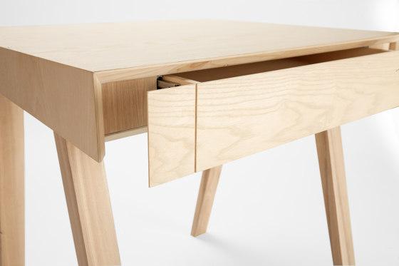 4.9 Writing Desk, 1 drawer, Lithuanian Ash by EMKO | Desks