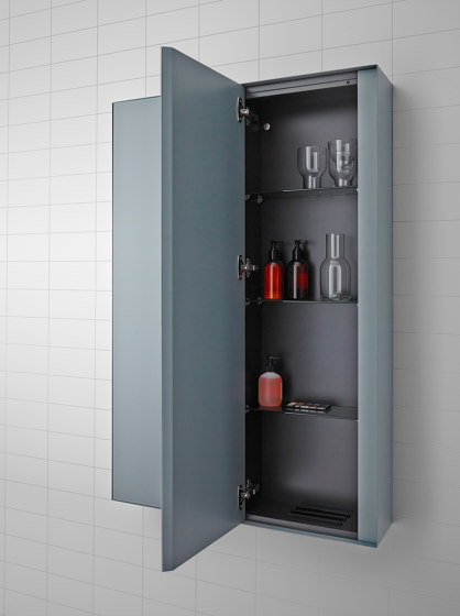 Strato Wall mounted Metallic cabinet units by Inbani | Mirror cabinets