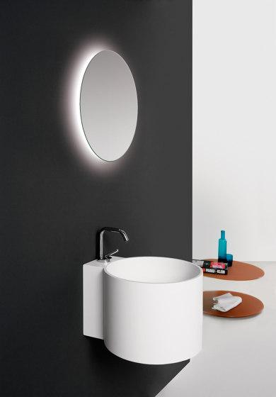 Tambo Mirror with LED lighting by Inbani   Bath mirrors